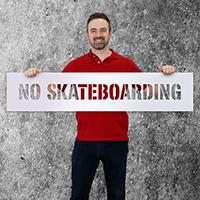 No Skateboarding Floor Stencil