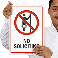 No Soliciting Prohibition Sign