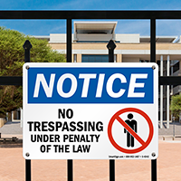 Notice: No Trespassing (graphic) Sign