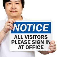 Notice Visitors Sign In Sign