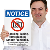 Photographing Strictly Prohibited