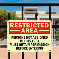 Restricted Area Permission Before Entering Sign