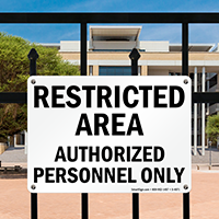Restricted Authorized Personnel Sign