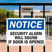Notice Security Alarm Sound Sign