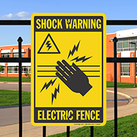 Shock Warning Electric Fence Safety Sign
