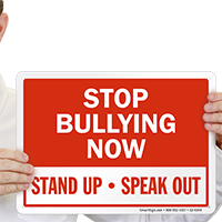 Stop Bullying Now Stand Up Speak Out Sign