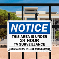 Notice Area Under Tv Surveillance Sign