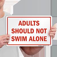 Do Not Swim Alone Sign