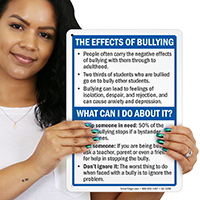 The Effects Of Bullying Sign