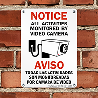 Notice / Aviso All Activities Monitored Sign