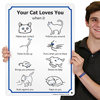 Your Cat Loves You Cat Mood Sign