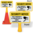 ConeBoss Security Notice Sign