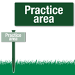 Practice Area Easystake Sign