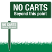 No Carts Beyond This Point Easystake Sign
