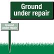 Ground Under Repair Easystake Sign