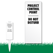Project Control Point EasyStake Survey Sign