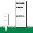 Benchmark Elevation Description EasyStake Survey Sign