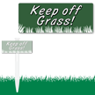 EasyStake Keep Off Grass Sign