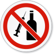 No Drugs Alcohol ISO Sign
