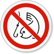 No Fishing Symbol ISO Prohibition Circular Sign