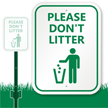 Please Do Not Litter with Graphic Sign