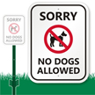 No Dogs Allowed with Graphic Sign