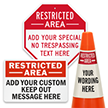 Add No Trespassing Text Custom Restricted Area Sign