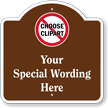 Add Wording Here And Choose Clipart Custom Dome Top Sign