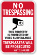 Alaska Property Is Protected By Video Surveillance Sign