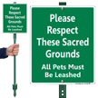All Pets Must Be Leashed LawnBoss Sign
