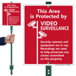 Video Surveillance LawnBoss® Sign & Stake Kit