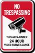 Area Under Video Surveillance No Trespassing Sign