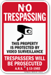 Arizona No Trespassing Sign