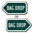 Bag Drop Golf Course Sign