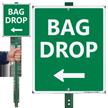 Bag Drop Left Arrow Lawnboss Sign Kit