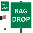 Bag Drop Lawnboss Sign And Stake Kit