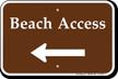 Beach Access Left Arrow Sign