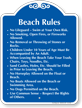 Beach Rules No Lifeguard Signature Sign