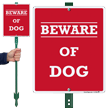 Beware Of Dog LawnBoss® Sign & Stake Kit
