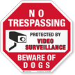 Beware Of Dogs No Trespassing Sign
