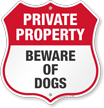 Private Property Shield Sign