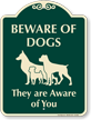 Beware Of Dogs Signature Sign