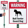 Warning Bull Terrier Guard Dog LawnBoss™ Signs