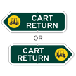 Cart Return Golf Course Sign