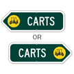 Carts Golf Course Sign