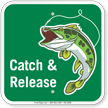 Catch & Release Fishing  Sign