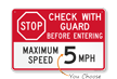 Stop Check With Guard Before Entering Sign