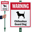 Warning Chihuahua Guard Dog LawnBoss™ Signs