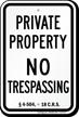 Colorado No Trespassing Sign