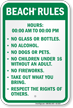 Custom Beach Rule Sign